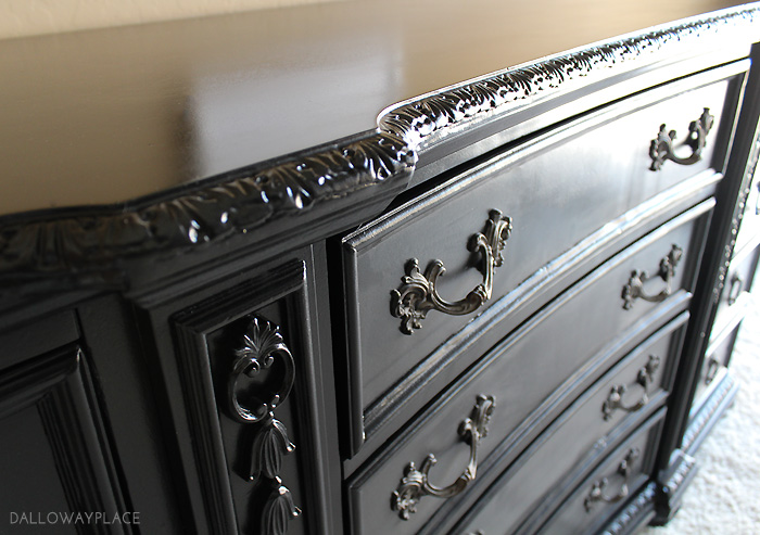 dalloway place black dresser refinished